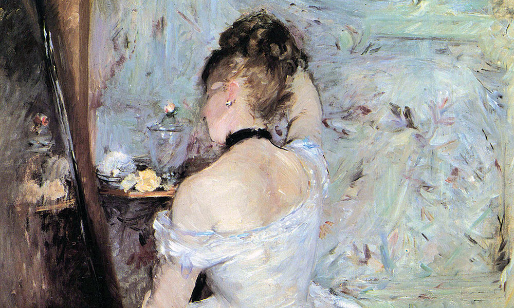 Lady in the Toilet by Morisot
